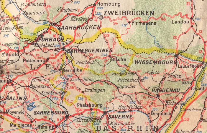 Saarbrucken Germany Map.History Maps